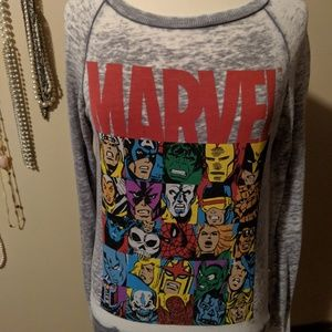 Marvel Tops - Marvel Comic Sweatshirt Size Medium